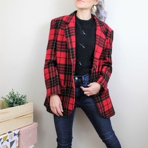 VIntage DonnyBrook 100% Wool Plaid Blazer
